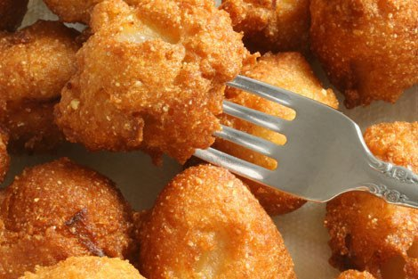 eating fried food from deep fryers