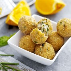 Ricotta Balls with Basil air fryer recipe