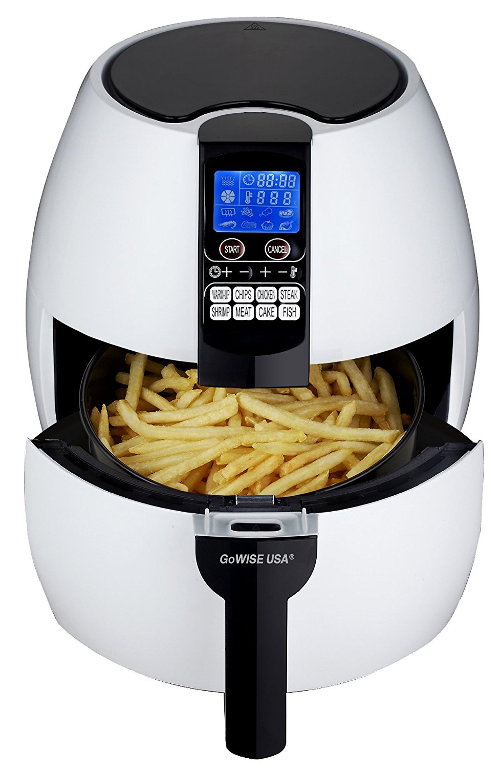 GoWISE USA 8-in-1. Electric Air Fryer Digital Programmable Cooking Settings